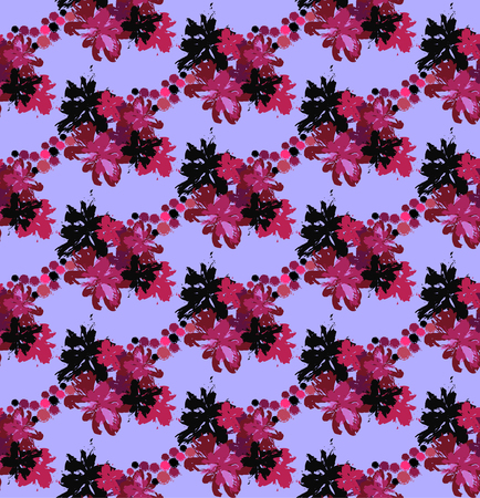 Seamless pattern with flowers-blots. Creative and artistic pattern for wallpaper, fabric, wrapper, cover. Vector illustration