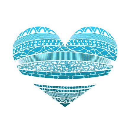 doodling: Heart isolated on white background. Doodling. Vector illustration Illustration