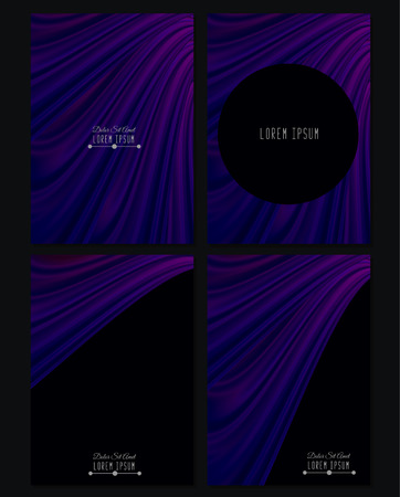 drapery: A set of four covers. Drapery. Size a4. Vector illustration Illustration