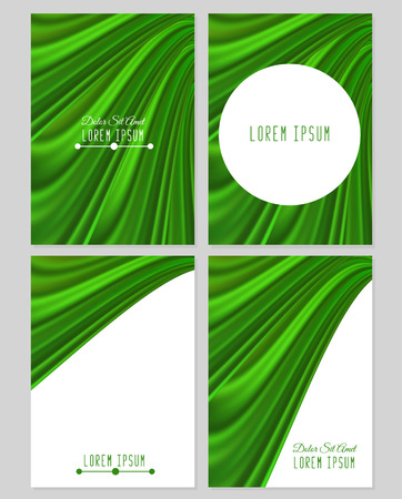 A set of four covers. Drapery. Size a4. Vector illustration Illustration