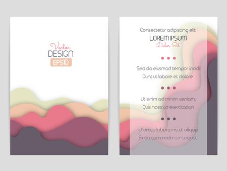 波を丘で湾曲した形状のデザインをカバーします。パンフレット、チラシ、招待状、証明書。材料設計。 写真素材 - 63946634