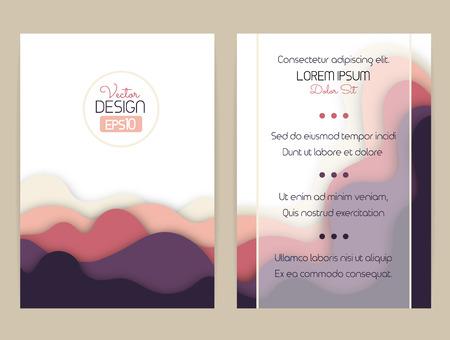 波を丘で湾曲した形状のデザインをカバーします。パンフレット、チラシ、招待状、証明書。材料設計。 写真素材 - 63946640
