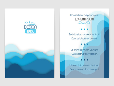 hillock: Cover design with curved shapes as a wave or hill. Brochure, flyer, invitation or certificate. Material design. Illustration