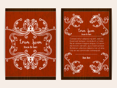 a4 borders: Cover design with floral ornamental frame. Retro style. Brochure, flyer, invitation or certificate.