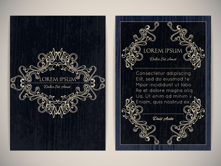 a4 borders: Cover design with ornamental frame. Retro style. Brochure, flyer, invitation or certificate.