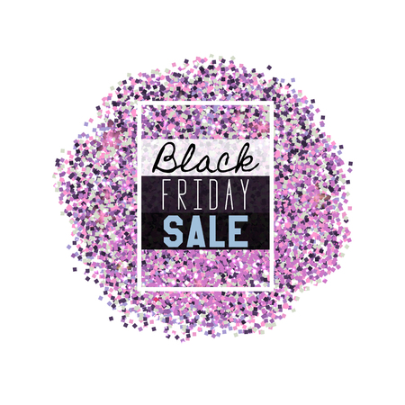 dazzling: Big Black Friday Sale. Pink glitter. Sparkles on white background. Glowing elements.