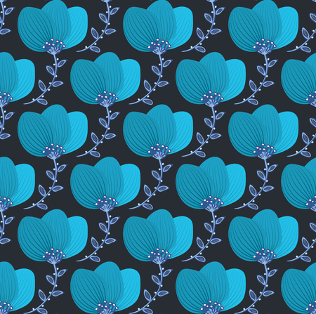 sloppy: Floral seamless pattern. Hand drawn creative flower. Colorful artistic background with blossom.