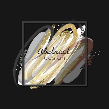Creative abstract background. Art. Paint splash. Daub. Colorful texture. Color smears. Frame. Vector illustration, eps10