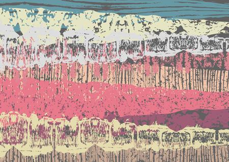 Creative abstract textured background. Colorful daub. Retro design. Art. Vector illustration, eps10