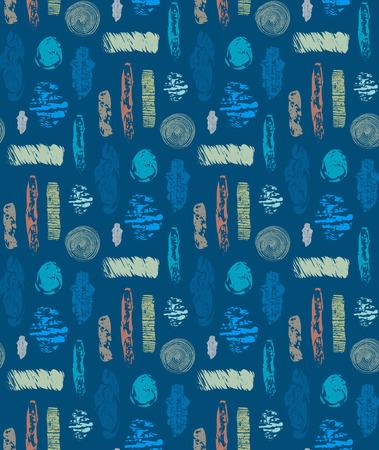 Abstraktes nahtloses Muster mit strukturierten Formen. Bunter abstrakter wiederholender Hintergrund. Kreatives Design. Es kann für Tapeten, Textilien, Verpackungen, Karten, Cover verwendet werden. Vektor-illustration