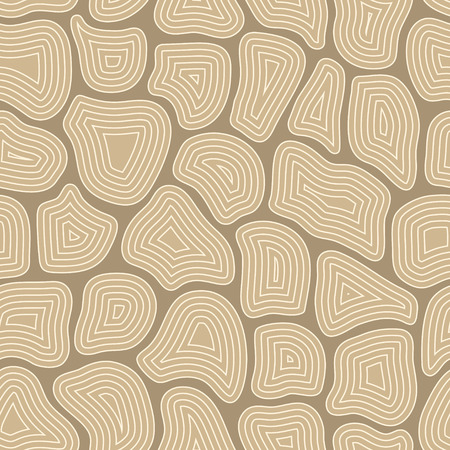 Abstract seamless pattern with many different particles next to each other. Surface is broken to pieces. It looks like maze or puzzles. Wrapping, print on clothes, wallpaper. Vector, eps10