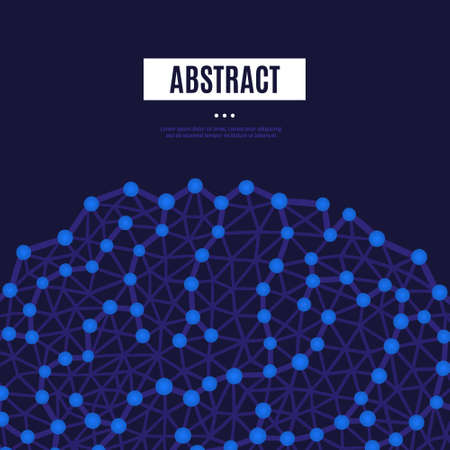 Abstract background with blue neural connections and place for text. Vector illustration