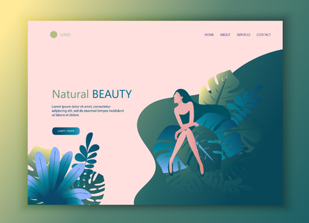 Landing Page Website Template of Beauty.