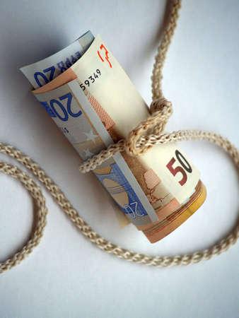 money and clothesline photo