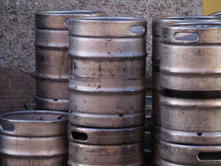 kegs: kegs of beer Stock Photo