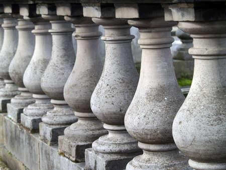 balustrade: stones balustrade       Stock Photo