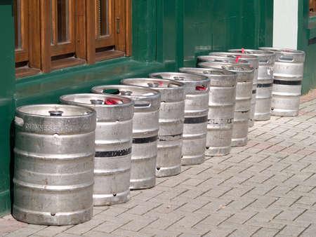 kegs: beer kegs Stock Photo