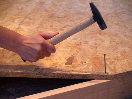carpentery: to hammer in a nail