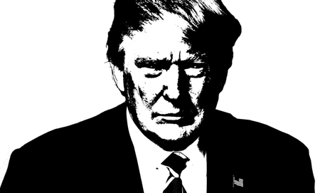 donald: Donald Trump Black and White Artistic