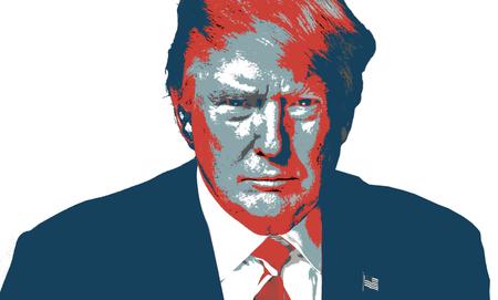 Donald Trump Kolorowe Artystyczne