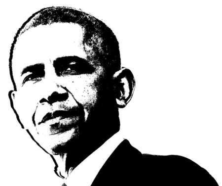 Barack Obama Black and White Artistic