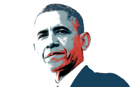 Barack Obama Colored Artistic