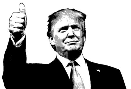 Ilustración Donald Trump Positivo Thumbs Up
