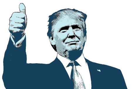 Illustration Donald Trump Positive Thumbs Up
