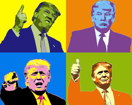 Ilustracja Donald Trump Wyrażenia