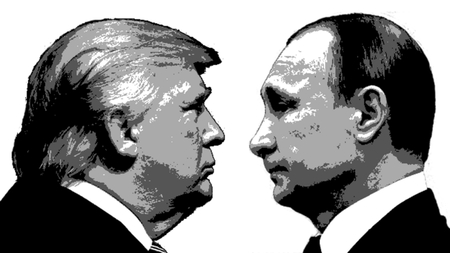 Editorial Illustration Trump versus Putin
