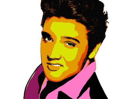 Editorial Illustration of Elvis Presley Sajtókép