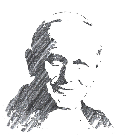 Pencil Illustration of John Paul Editorial
