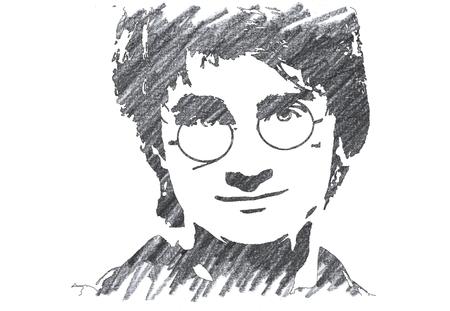 ハリー・ポッターの鉛筆イラスト