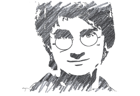 Pencil Illustration of Harry Potter