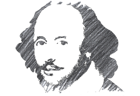 Pencil Illustration of William Shakespeare