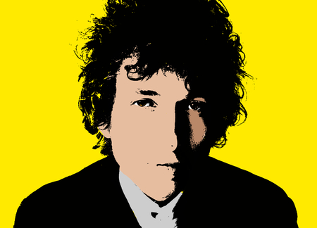 Drawing of Bob Dylan Editorial