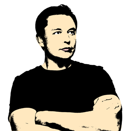 Artistic Illustration of Elon Musk Sajtókép