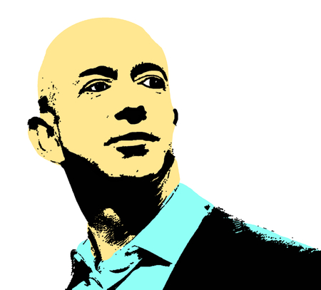 Editorial Illustration of Jeff Bezos