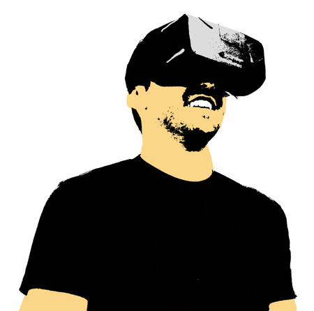 Illustration of Person Using Virtual Reality Headset Reklamní fotografie