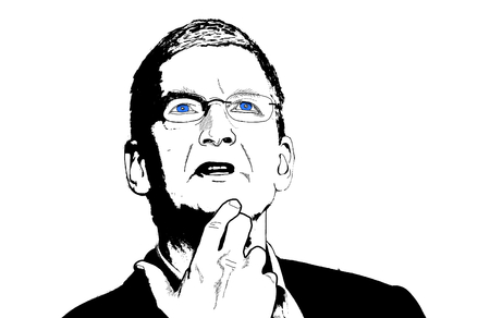 Editorial Illustration of Tim Cook Current CEO of Apple Corporation