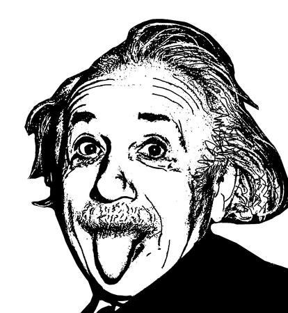 Editorial Illustration of Albert Einstein Editorial