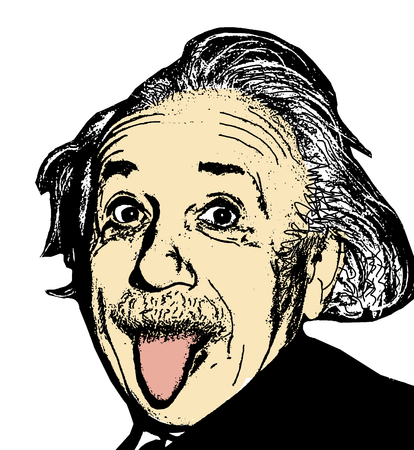 Editorial Illustration of Albert Einstein Editöryel
