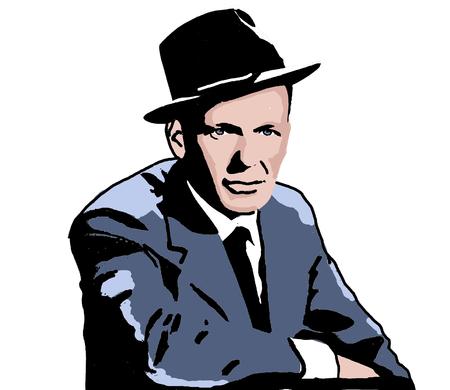 Editorial Illustration of Frank Sinatra