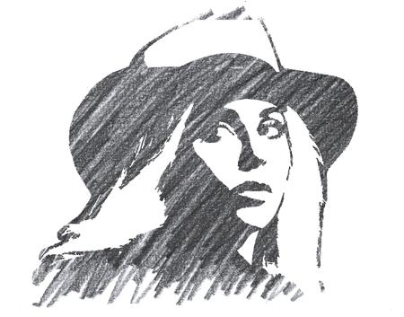 Pencil Illustration of Lady Gaga Editorial
