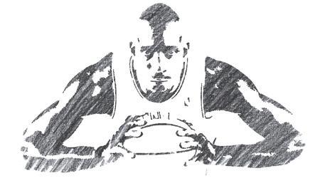 Pencil Illustration of Kobe Bryant Editorial