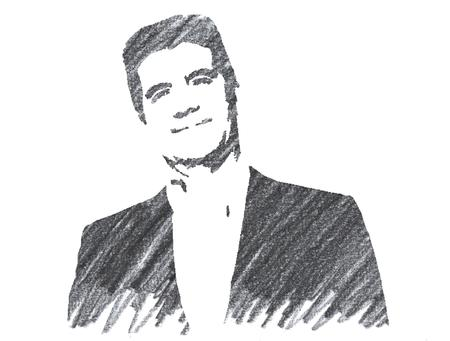 Pencil Illustration of Simon Cowell Editorial