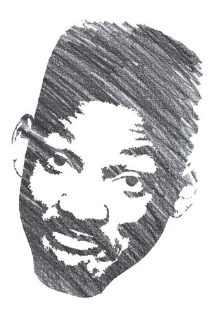 Pencil Illustration of Will Smith