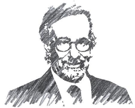 Pencil Illustration of Steven Spielberg