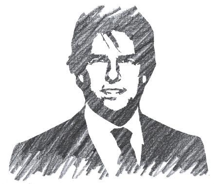 Pencil Illustration of Tom Cruise Editorial