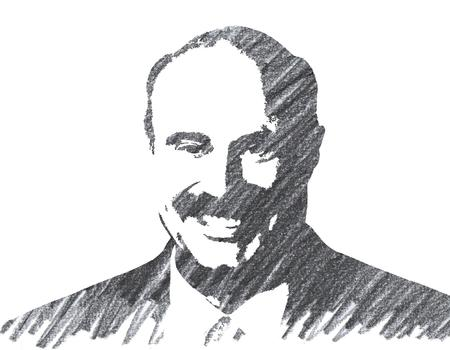 Pencil Illustration of Phil McGraw